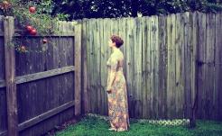 Elizabeth Joan Kelly, facing away full body portrait, color
