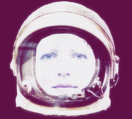 EJK as astronaut, purple